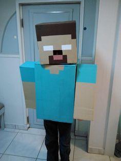 Coolest Herobrine Costume - Minecraft World Minecraft Halloween Costume, Minecraft Costumes, Halloween Costumes For Kids, Halloween Decorations, Halloween Crafts, Halloween Ideas, Homemade Costumes, Homemade Halloween, Boy Costumes