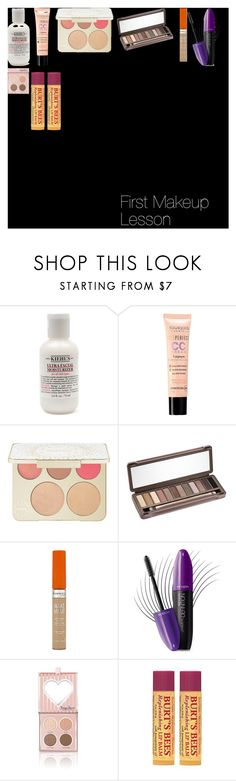 """""""First Makeup Lesson"""" by oroartye-1 on Polyvore featuring beauty, Kiehl's, Bourjois, Becca, Urban Decay, Rimmel, Revlon and Burt's Bees"""