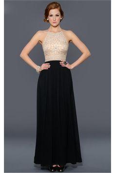 2014 Prom Dresses A Line Floor Length Scoop Spaghetti Straps Chiffon S010