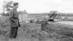 General Sir Richard Gale at Pegasus Bridge, D-Day.