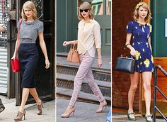 VINTAGEOVERCHIC.COM | Style Icon: Taylor Swift Love the pants and the top!