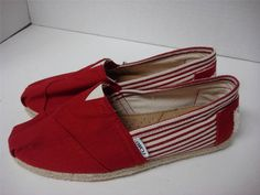 TOMS Women's Shoes Classics University Red Rope Sole Size 7.5 Brand New