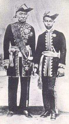 "King_Mongkut_and_Prince Chulalongkorn.  The King from ""Anna and the King"" and the Crown Prince."