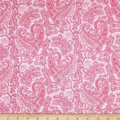 Harlow Paisley Pink from @fabricdotcom  Designed by Marianne Elizabeth for RJR Fabrics, this cotton print fabric is perfect for quilting, apparel and home decor accents. Colors include shades of pink.