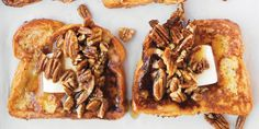 Buttered-Pecan French Toast with Bourbon Maple Syrup recipe | Epicurious.com