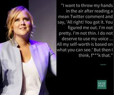 She refuses to let hateful comments determine her self-worth.