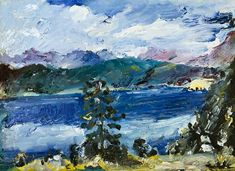 The Walchensee With A Larch Tree 1921 Acrylic Print by Corinth Lovis Larch Tree, Twig Furniture, Art Database, Great Artists, Les Oeuvres, Art Lessons, Art Prints, Artwork, German