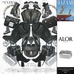 ALOR Grey Square Cable wrap bangle featured in Harper's Bazaar
