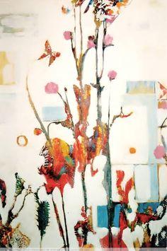 Flores del Campo.Pintura acrílica,s/lienzo.  Dimensión,73 x 100.cm.(La primavera,con las flores del campo).