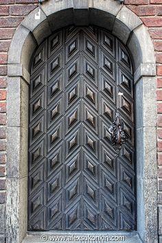 Metal vintage door. Stockholm