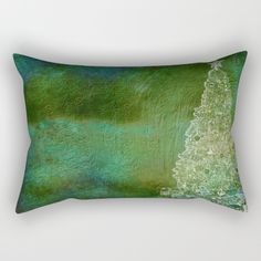 """https://society6.com/product/christmas-tree-on-forest-green_rectangular-pillow?curator=hereswendy: Our Rectangular Pillow is the ultimate decorative accent to any room. Made from 100% spun polyester poplin fabric, these """"lumbar"""" pillows feature a double-sided print and are finished with a concealed zipper for an ideal contemporary look. Includes faux down insert. Available in small, medium, large and x-large."""