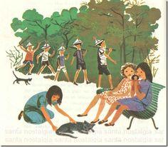 Crianças a brincar, ilustração de Maria Keil