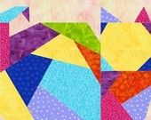 Crazy Cat Foundation Paper Piece Quilt PDF Pattern by MadCreekDesigns