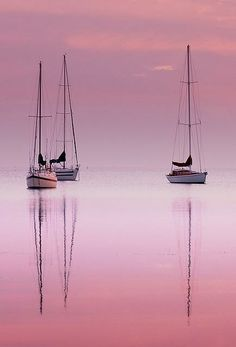 Sailing Yacht Charter - Search for Yachts and Catamarans Beautiful World, Beautiful Places, Beautiful Pictures, Beautiful Sunset, Reflection Pictures, Pink Sky, Pink Sunset, Pink Black, Pink Ocean