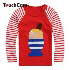 5d1a59a8 Ice-cream High Quality Fall Winter Design Kids Infant Clothing Children T- shirt Cute Baby Boy Girl Long Sleeve Cotton T shirts