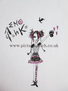 Embroidery Digital File Emo Punk RESERVE by NicolaElliott