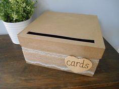 Rustikale Wedding Card Box mit Spitzen und Jute von astylishdesign