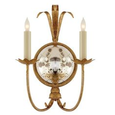 Visual Comfort CHD4175GI Gramercy Double 2 Light Wall Sconce in Gilded Iron