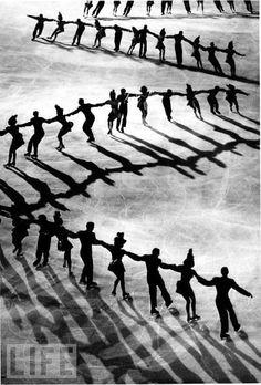 Ice skating, Life magazine