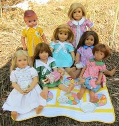 The BEST website to get free American Girl patterns, Hearts for Hearts doll pattern, ect. And how to re-size patterns to fit other dolls. Amazing!!!