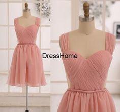 Bridesmaid Dress Blush Pink Bridesmaid Dresses / by DressHome, $109.99