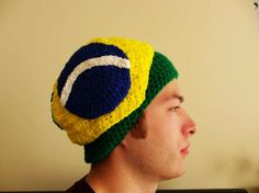 Items similar to Brazil Beanie - Brazilian Flag - Handmade Crochet on Etsy Brazil Flag, Projects To Try, Crochet Hats, Beanie, Trending Outfits, Unique Jewelry, Handmade Gifts, Ship, Etsy