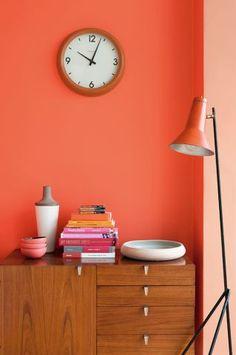 Como incluir a cor laranja-acobreado na decoração