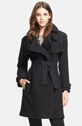 Burberry London Cashmere Wrap Trench Coat