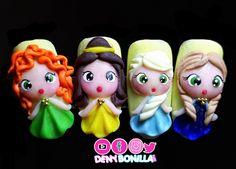 Princesas bebés 👑👸 #acrilico #denybonillanails #nails Cute Gel Nails, Glue On Nails, 3d Nails, Best Acrylic Nails, Acrylic Nail Art, Wonder Nails, 3d Nail Designs, Nail Techniques, Nail Room