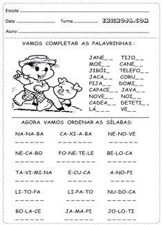 Atividades de Português para o 1° ano do Ensino Fundamental – Ensino Já