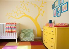 Living With Kids home tour featuring Katy Regnier. I really love this color palette for a gender-neutral kid's room or play area.