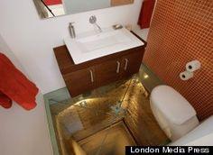 Elevator Shaft Bathroom:  First Floor Sporting Goods...Second Floor Womens Clothing...Splat!!