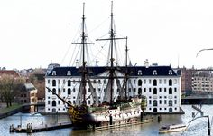 The Maritime museum before the VOC ship Amsterdam (Netherlands) aboard the Amsterdam! This ship is an exact replica of the famous VOC ship that in 1749 all sank on its maiden voyage. The Amsterdam is one of the showpieces of the Naval Museum. | Flickr - Photo Sharing!