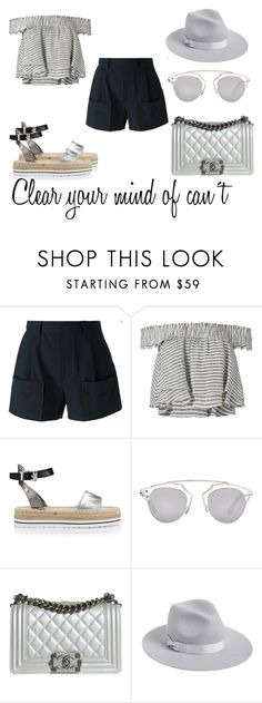 """""""Clear your ..."""" by alex-hllnz on Polyvore featuring moda, Band of Outsiders, Apiece Apart, Love Moschino, Christian Dior, Chanel y Lack of Color"""