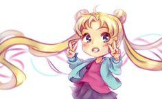 chamitea: Quick Usagi sketch while watching Sailor Moon~