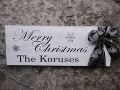 Customized Last Name sign with Merry by OurHobbyToYourHome on Etsy,