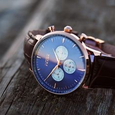 The Montpellier Blue Chronograph ⌚️ #grandfrankwatches www.Grandfrank.com