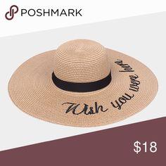 d445b6d8 Wish you were here beach floppy straw hat resort •super cute for the beach  nice