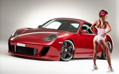 Download full size porshe Girls & Cars wallpaper / 1280x800