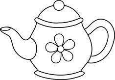 Printable Coloring Pages Teapots Sketch Coloring Page Party Ideas