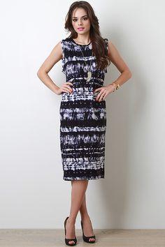 Tie Dye Muscle Maxi Dress