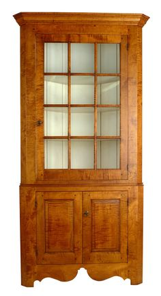 corner display cabinet: this six-foot corner cabinet is great for