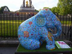 The Elephant Parade in London 2010.