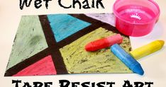 One of our favorite art activities involves using wet chalk. It's a fun medium to work with anytime but when you add in some tape resist - i...