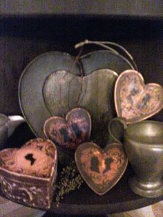 Lovely rusty heart collection