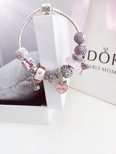 50% OFF!!! $279 Pandora Charm Bracelet Pink. Hot Sale!!! SKU: CB01681 - PANDORA Bracelet Ideas