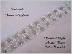 Tutorial Beaded Right Angle Weave Tila Bracelet - Jewelry Beading Pattern, Beadweaving Instructions, PDF, Do It Yourself, How To