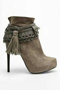 wonderful grey boots