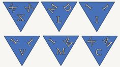 Fun For All: Roman Numerals - Odd One Out Puzzle Roman Numerals, Puzzles, Cards, Fun, Puzzle, Map, Roman Numbers Tattoo, Roman Numeral Numbers, Lol