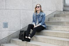 From my own blog - live simply, use less, shop smarter and take better care of your wardrobe.  #minimalistic #scandinavian #simple #outfit #trashy #denim #blue #jeans #stripes